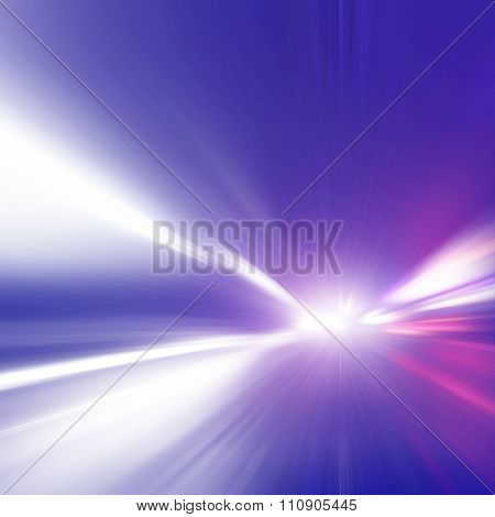 Abstract image of speed motion on the road at night time.