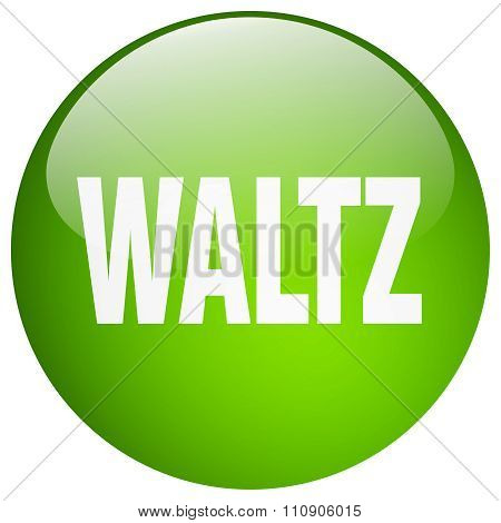 Waltz Green Round Gel Isolated Push Button