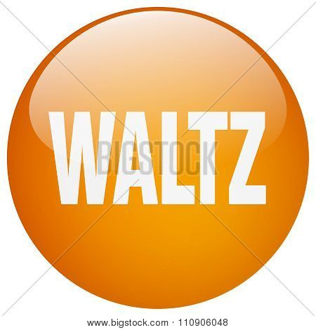 Waltz Orange Round Gel Isolated Push Button