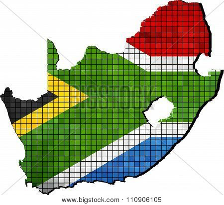 South Africa Map With Flag Inside.eps
