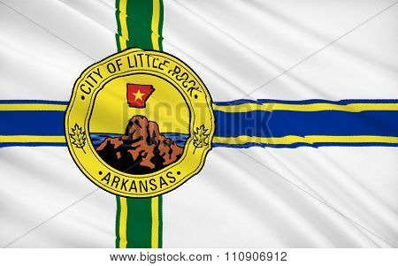 State Flag Of Little Rock - A City In The South Of The United States, The Capital Of Arkansas