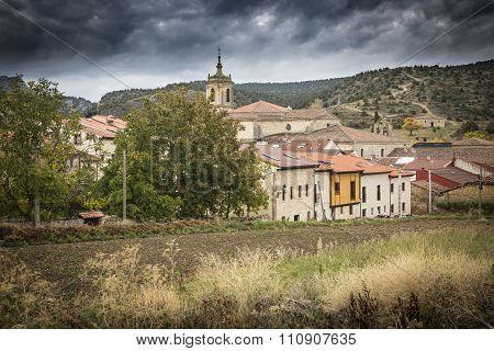 Santo Domingo de Silos town, Burgos, Spain