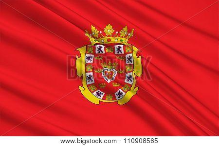 The Flag Of The Murcia, Spain