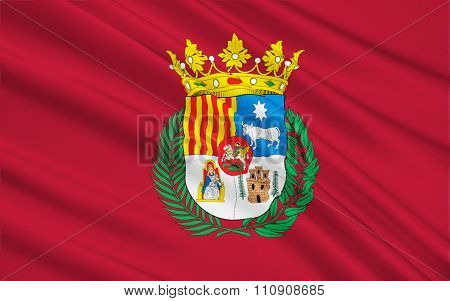 Flag Of Teruel - A City In Spain