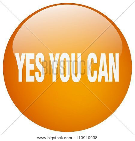 yes you can orange round gel isolated push button