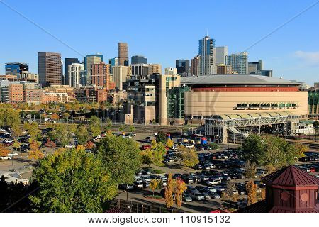 Denver, Usa - October, 19: Skyline Of Denver On October 19, 2013  In Colorado, Usa.  Denver Is The M