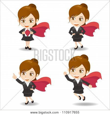 Business Woman Act As Super