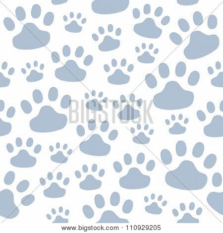Seamless pattern of the tracks of animals