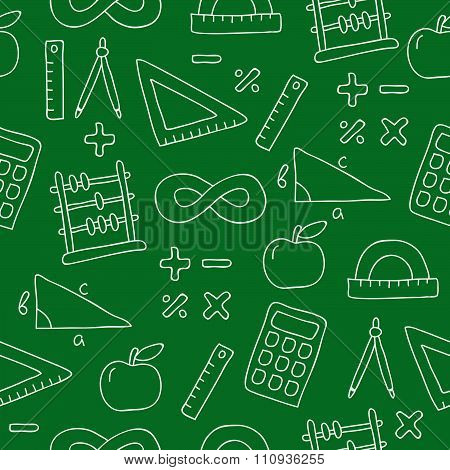 Seamless pattern of icon math