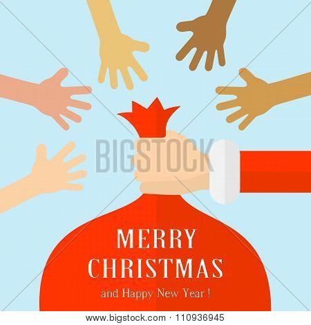 Santas Sack And Hands