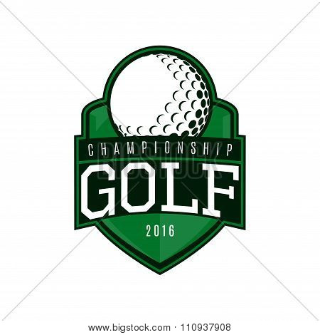 Vector Label Of Golf