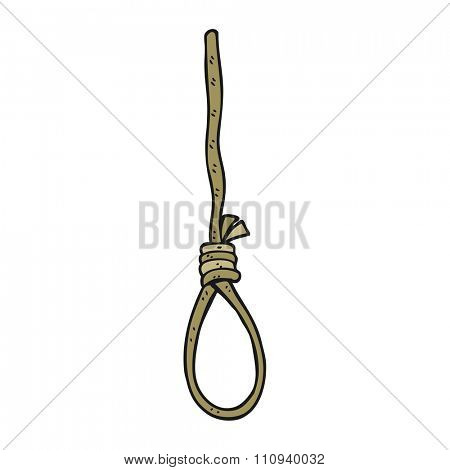 freehand drawn cartoon hangman's noose