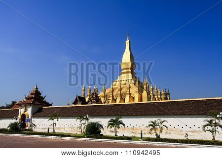 Golden Pagoda With Blue Sky