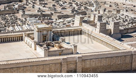 Model Of Jerusalem Temple From First Century C.e.