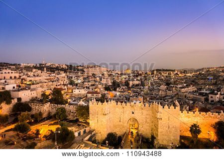Damascus Gate And Jerusalem, Israel