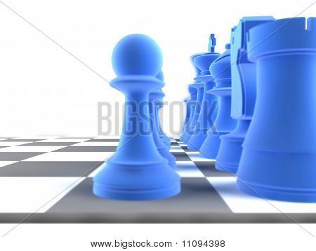 Close Up Shot Of A Set Of Chess Pieces
