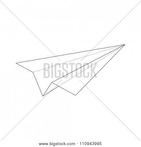 Dashed Lines Minimal Airplane Design