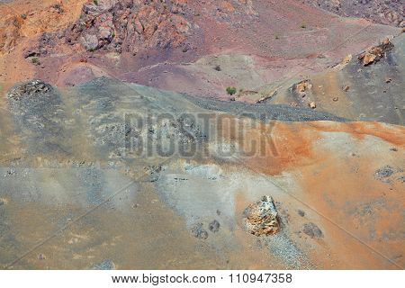 Himalayan mountains background – arid multi-colored mountains