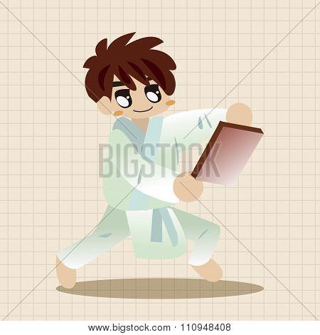 Taekwondo Theme Elements Vector,eps