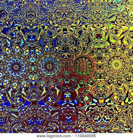 Abstract background texture. Modern digital art. Old victorian style. Image in full frame.