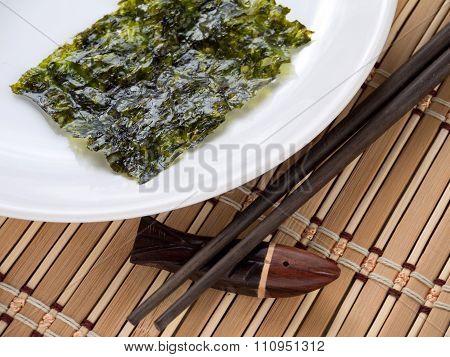Nori Seaweed On A Plate