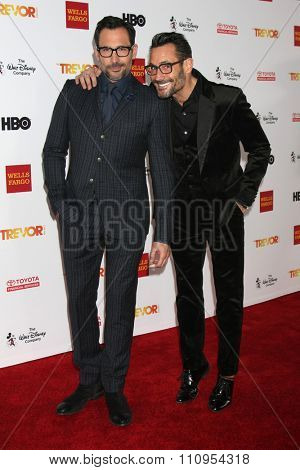 LOS ANGELES - DEC 6:  Lawrence Zarian, Gregory Zarian at the TrevorLIVE Gala at the Hollywood Palladium on December 6, 2015 in Los Angeles, CA