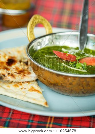Palak Paneer. Indian Dishes