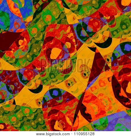 Abstract background illustration. Unreal artist pic. Modern digital art. Made in full frame.