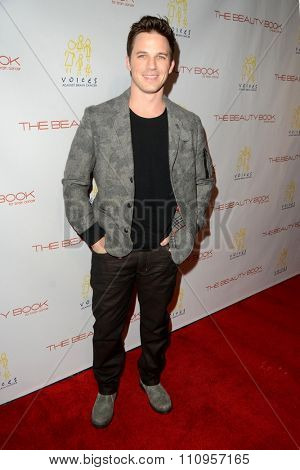 LOS ANGELES - DEC 3:  Matt Lanter at the The Beauty Book For Brain Cancer Edition Two Launch Party at the Le Jardin on December 3, 2015 in Los Angeles, CA