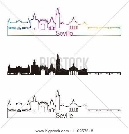 Seville V2 Skyline Linear Style With Rainbow