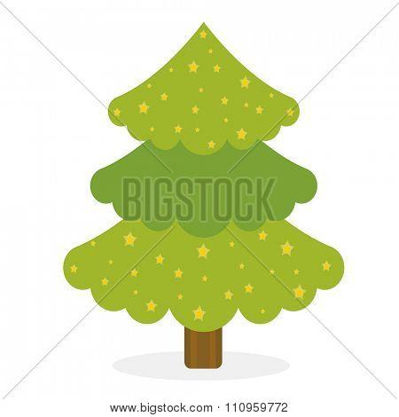 Christmas tree icons set. Christmas tree vector. New Year tree isolated. Christmas tree vector illustration. New Year tree silhouette. Christmas decoration, balls, tree, green tree. Set of Christmas