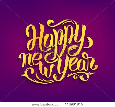 Happy New Year 2016 vector greeting card
