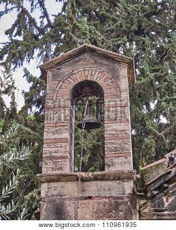Athens Greece Panaghia Kapnikarea church steeple
