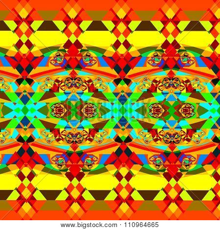 Colorful psychedelic fractal pattern. Full frame image. Cool little messy pieces.