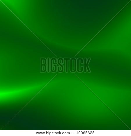 Soft green background. Cool magic shine. Green energy waves. Full frame picture. Fancy smooth smoke.