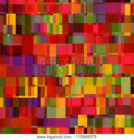 Abstract colorful background illustration. Modern digital art. Rows of small sized pieces.