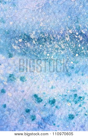Snow Watercolor on Blue Background 10
