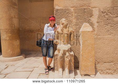 Happy Tourist In Egypt.