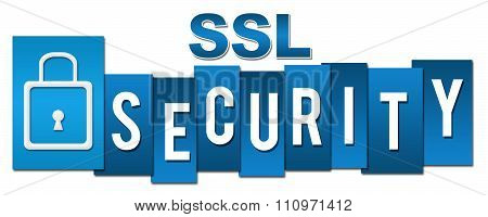 SSL Security Lock Blue Stripes
