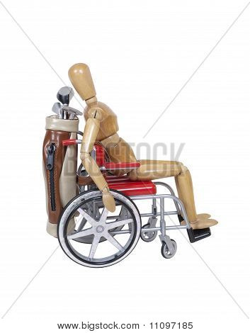 Wheelchair And Golf Clubs