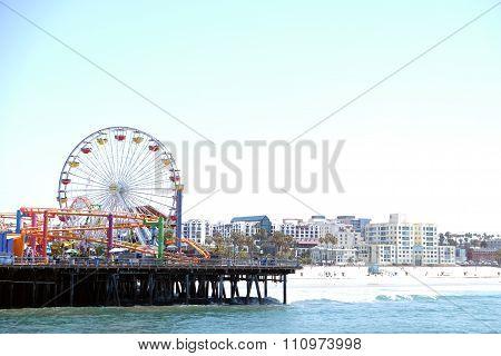 Santa Monica pier Ferris Wheel los angeles