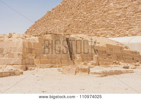 Ancient Ruins Of Giza.