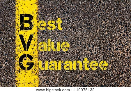 Advertising Business Acronym Bvg Best Value Guarantee