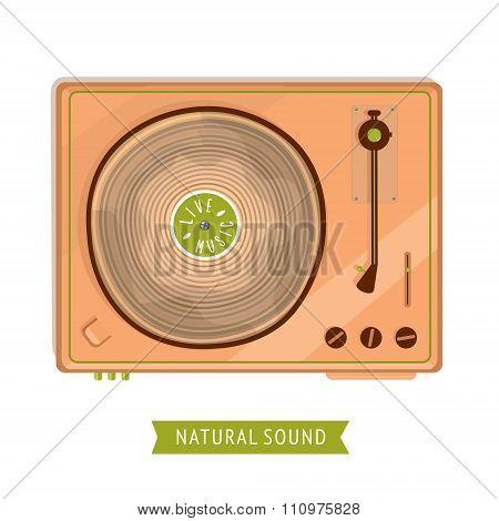Wooden Vinyl Turntanble