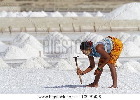 In Salt extraction place
