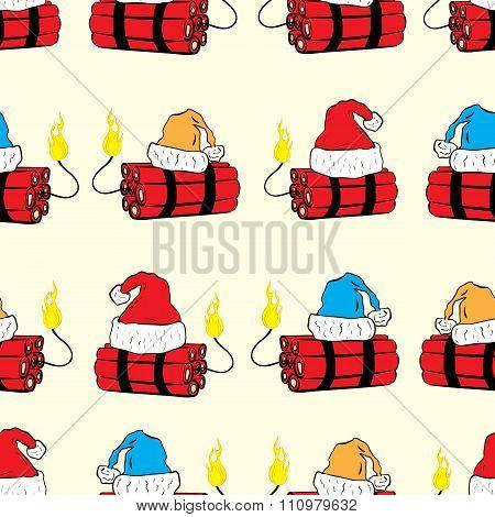 Seamless Christmas dynamite