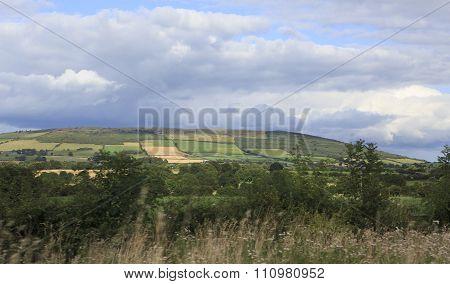 Beautiful summer farmland in countryside of Ireland