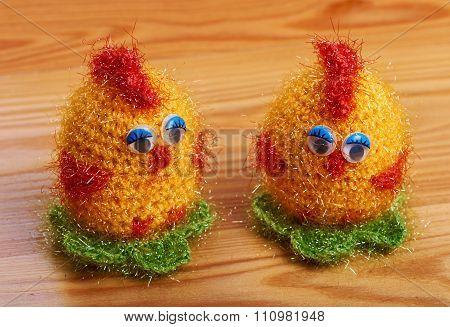 Chickens Crocheting