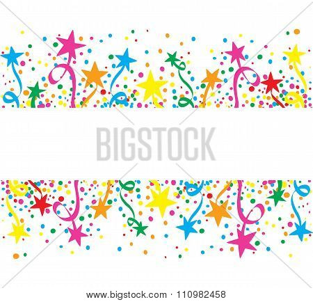 Big colorful background stars at day