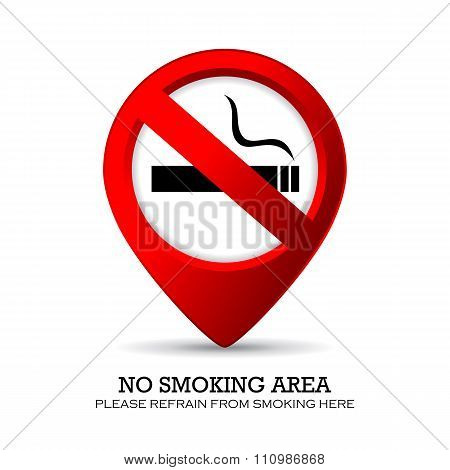 No smoking area marker